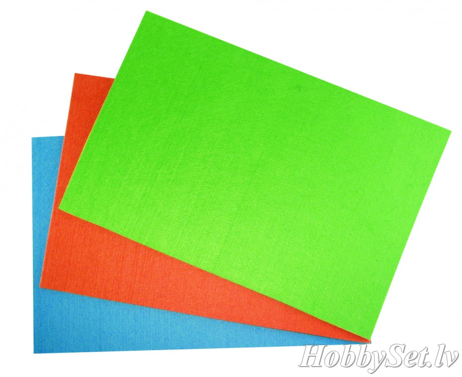 Filca loksne, 4mm, 30x45cm, light green