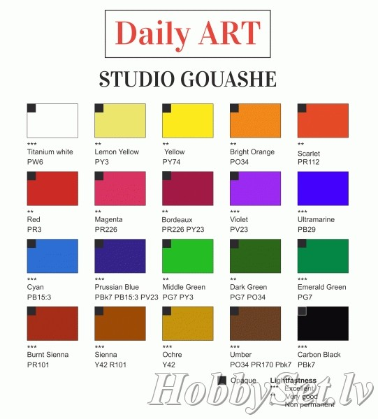 Studio Gouache paint for artists, 50 ml, Burnt Sienna